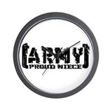 Proud Army Niece - Tatterd Style Wall Clock