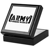 Proud Army Niece - Tatterd Style Keepsake Box