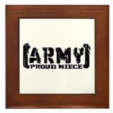 Proud Army Niece - Tatterd Style Framed Tile