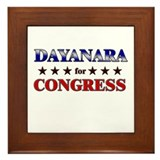 DAYANARA for congress Framed Tile