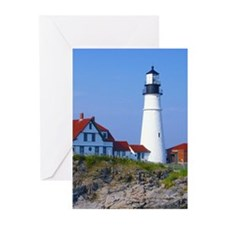 Portland Head Light Greeting Cards (Pk of 10)