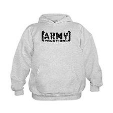 Proud Army Friend - Tatterd Style Hoodie