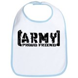 Proud Army Friend - Tatterd Style Bib