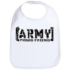 Proud Army Friend - Tatterd Style Bib