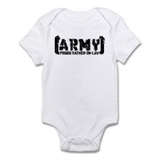 Proud Army Fthr-in-Law - Tatterd Style Infant Body