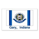 Gary IN Flag Rectangle Decal