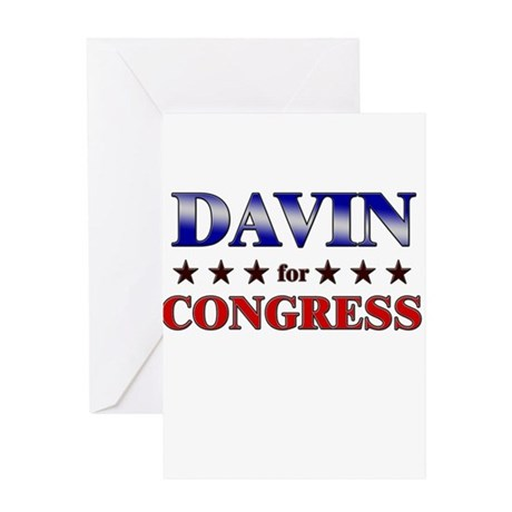 DAVIN for congress Greeting Card