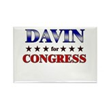 DAVIN for congress Rectangle Magnet