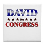DAVID for congress Tile Coaster
