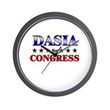 DASIA for congress Wall Clock