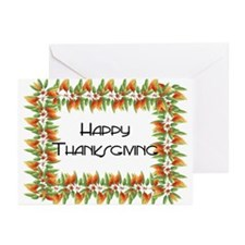 Fall Leaves Border - Happy Th Greeting Cards (Pk o