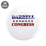 "DARRELL for congress 3.5"" Button (10 pack)"