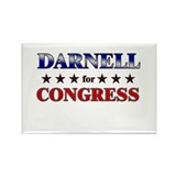 DARNELL for congress Rectangle Magnet