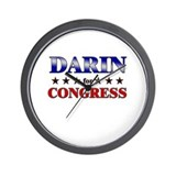 DARIN for congress Wall Clock