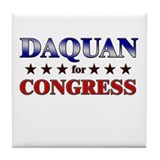DAQUAN for congress Tile Coaster