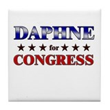 DAPHNE for congress Tile Coaster
