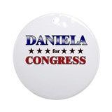 DANIELA for congress Ornament (Round)