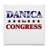 DANICA for congress Tile Coaster