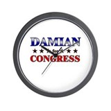 DAMIAN for congress Wall Clock