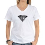 SuperRookie(metal) Women's V-Neck T-Shirt