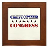 CRISTOPHER for congress Framed Tile