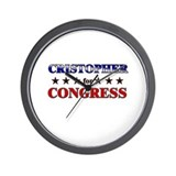 CRISTOPHER for congress Wall Clock