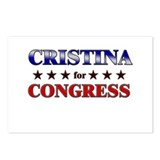 CRISTINA for congress Postcards (Package of 8)