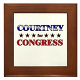 COURTNEY for congress Framed Tile