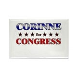 CORINNE for congress Rectangle Magnet (10 pack)