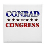 CONRAD for congress Tile Coaster