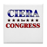 CIERA for congress Tile Coaster