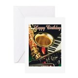 Unique Jazz Greeting Card