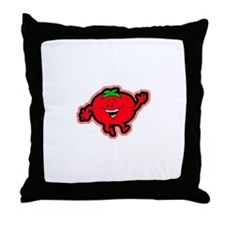 Dancing Tomato Throw Pillow
