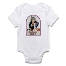Monkey Slinging Poop Infant Bodysuit