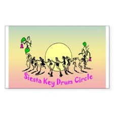 Siesta Key Drum Circle Rectangle Decal