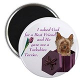 Yorkies 2.25&quot; Round Magnet