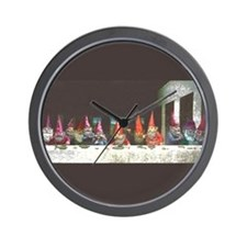 """Gnome"" Last Supper Wall Clock"