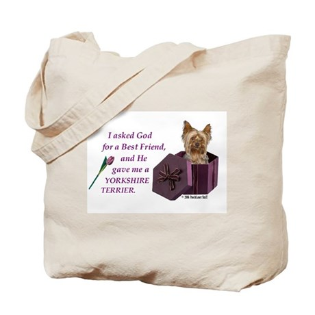 """God Gave Me A Yorkshire Terrier"" Tote Bag ( Yorki"