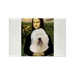 Mona's Old English Sheepdog Rectangle Magnet (10 p