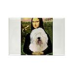 Mona's Old English Sheepdog Rectangle Magnet (10 p
