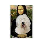 Mona's Old English Sheepdog Rectangle Magnet