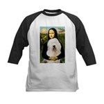 Mona's Old English Sheepdog Kids Baseball Jersey