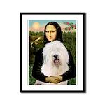 Mona's Old English Sheepdog Framed Panel Print