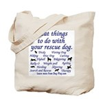 Great Dog Activities Tote Bag