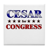 CESAR for congress Tile Coaster