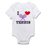 I Love Tennis Purple Infant Bodysuit