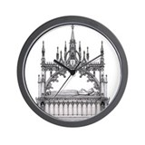 gothic tomb Wall Clock