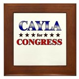 CAYLA for congress Framed Tile