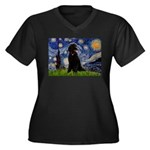 Starry / Std Poodle(bl) Women's Plus Size V-Neck D