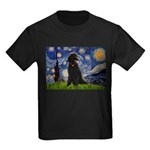 Starry / Std Poodle(bl) Kids Dark T-Shirt